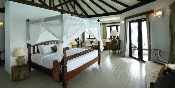 Water villa: habitación principal