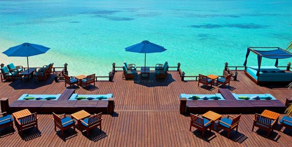 Bar Anchorage Sheraton Maldives: terraza