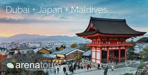 portada oferta Dubai + Japón + Maldivas