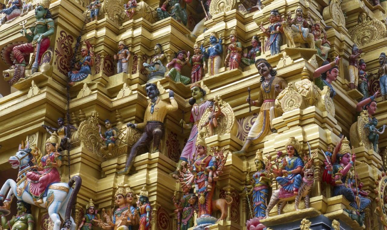 Detalle de templo Hindú