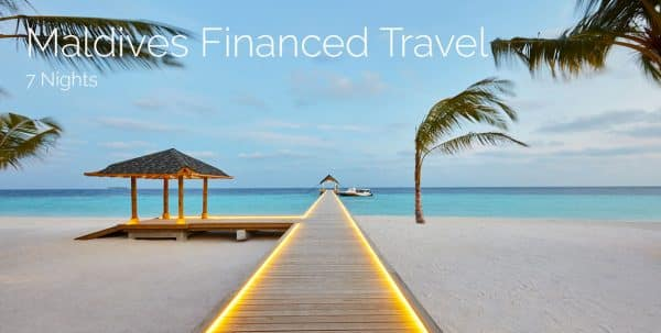 Maldives financed travel 7 nights
