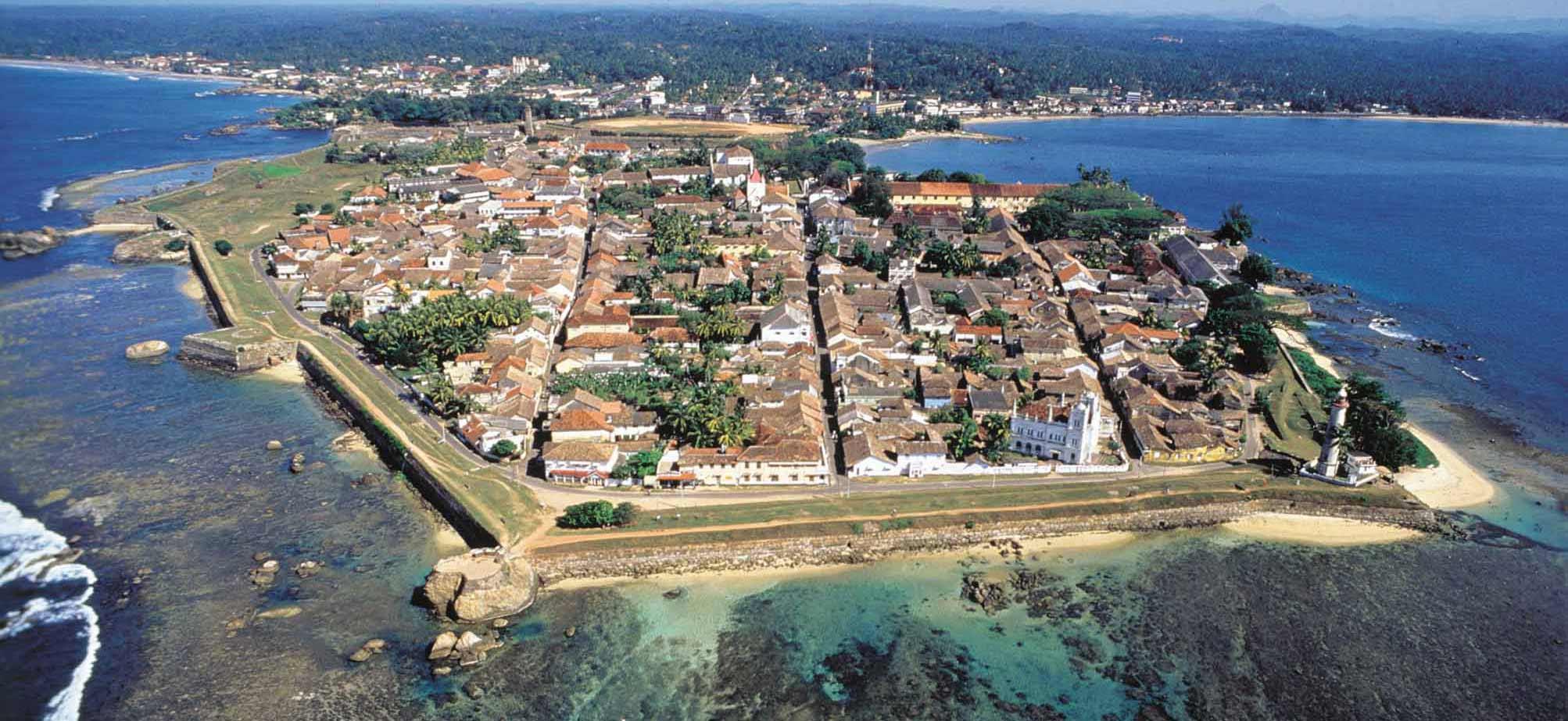 Vista aérea de la ciudad de Galle