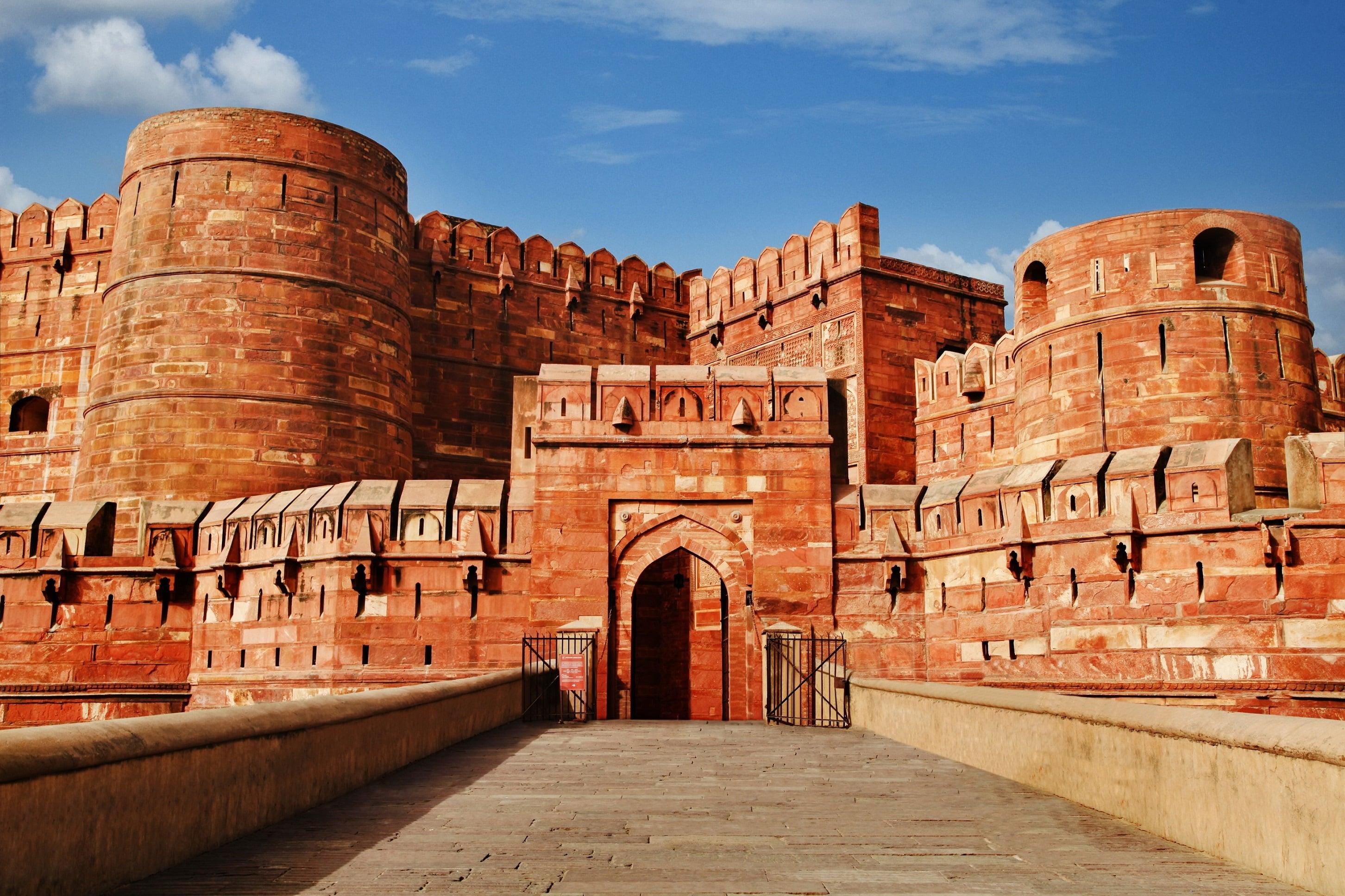 entrada al fuerte de Agra