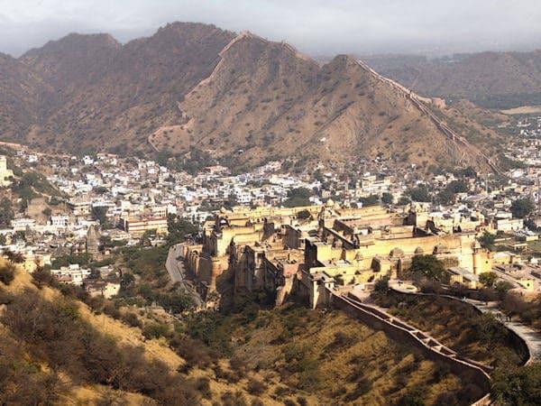 Jaipur vista desde la montaña