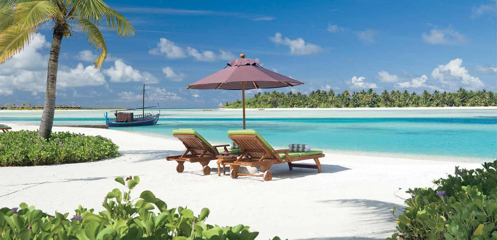 spiaggia nell'Anantara Naladhu Maldives