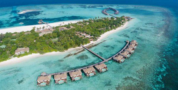 Vista aérea del Noku Maldives