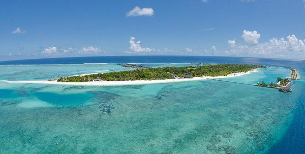 Foto aerea de Paradise Island Maldives