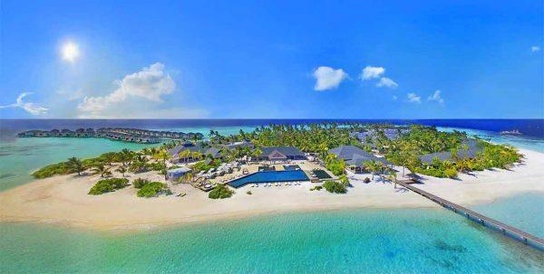 Amari Havodda: vista aerea de la isla