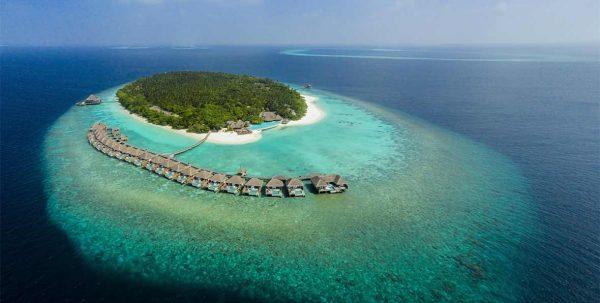 vista aérea de Dusit Thani Maldives