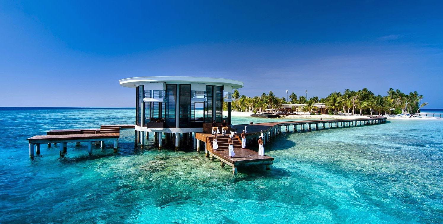 Molo di arrivo, viaggio alle Maldive
