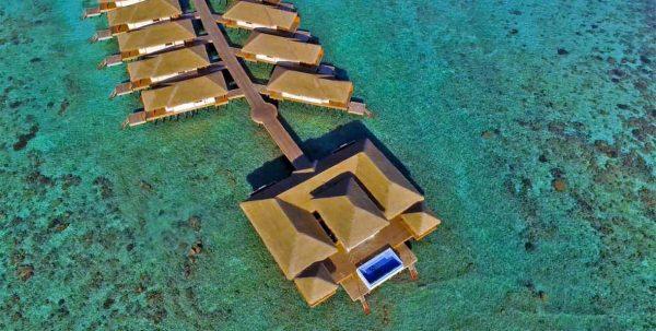 Kudafushi presidential suite aerial