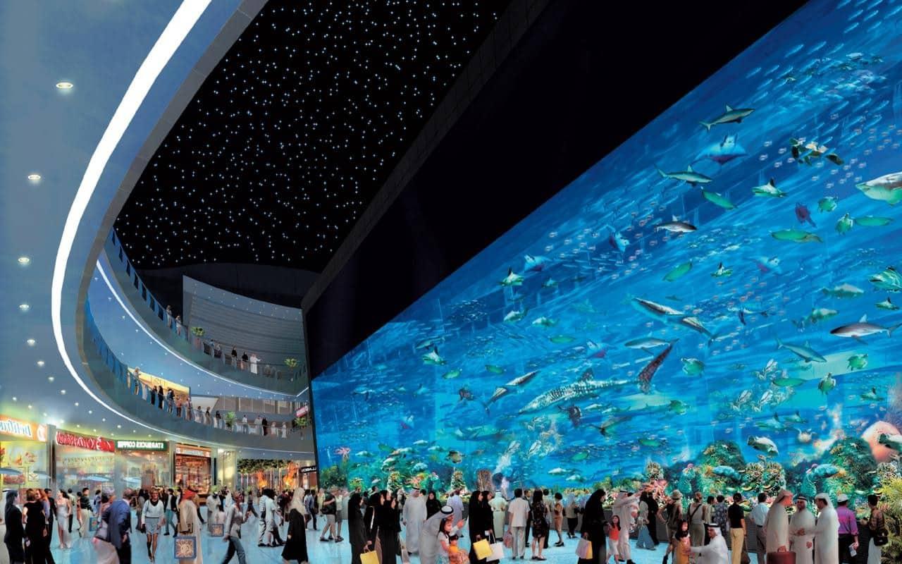 El Dubai Mall y su impresionante acuario