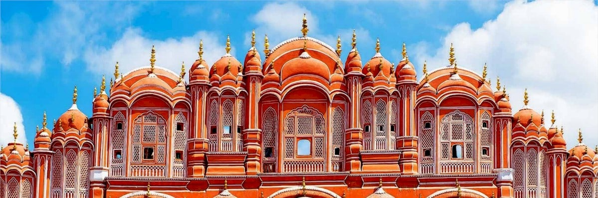 Detalle de la ciudad de Jaipur en India