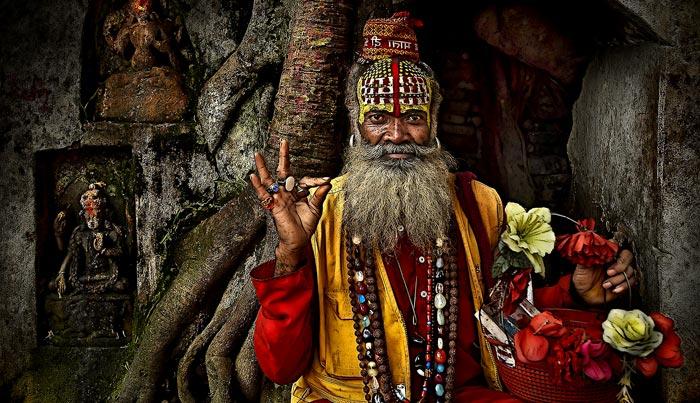 Monje de India (Sadhu)