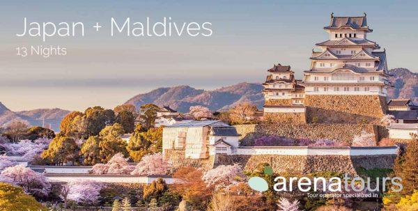 viaje a japón+ maldivas, 13 noches