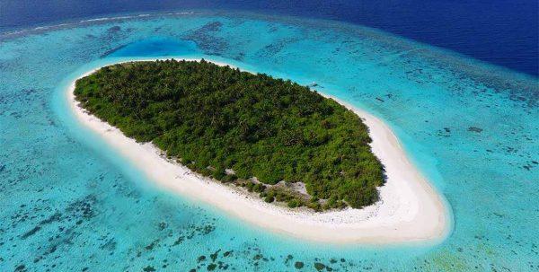vista aerea de la isla de Faarufushi