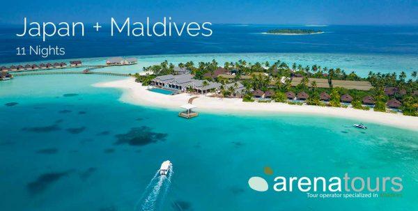 cabecera oferta de viaje a maldivas + japón