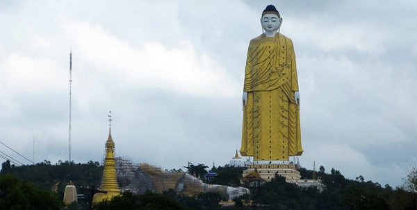 viaje a Birmania, la estatua de buddha de monywa