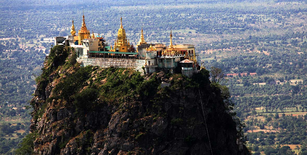 viaje a Myanmar: vista del Monte Popa