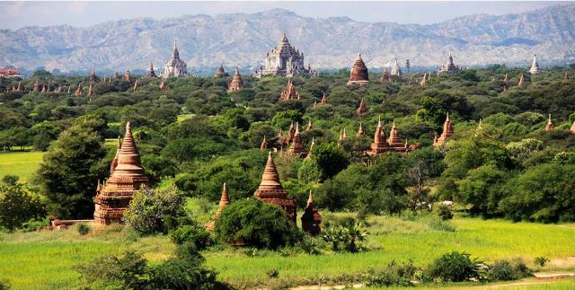 viaje a birmania: vista panoramica debagán