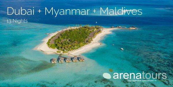 viaje combinado dubai + myanmar + maldivas