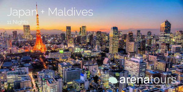 oferta de viaje Japón + Malidvas, 11 noches
