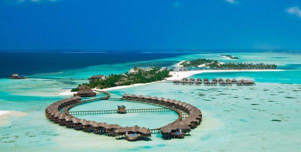 Vista aerea de Olhuveli en las Islas Maldivas
