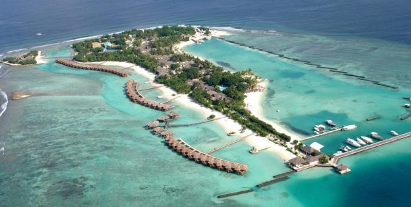 vista aerea Sheraton Maldives Full Moon Resort